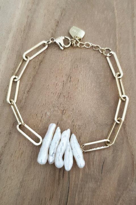 Bracelet Chainette Nacre