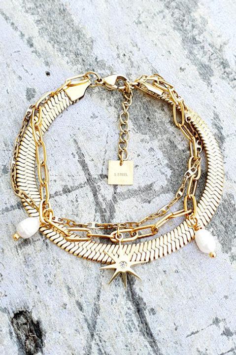Bracelet Trio - Gold - N.2