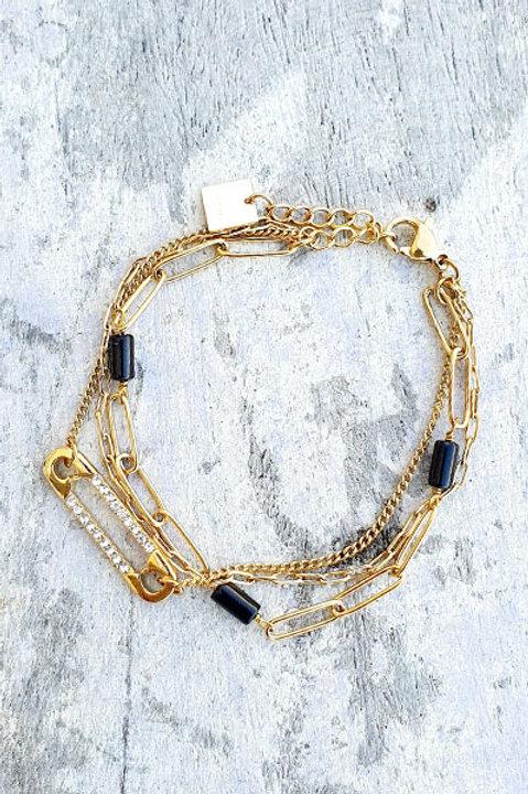 Bracelet Multi - Trombone - Black
