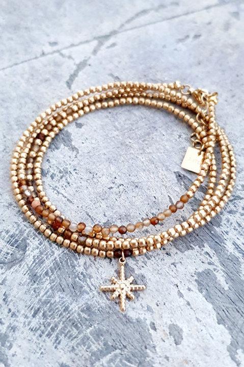 Bracelet Multi Tour - Agate - N.6