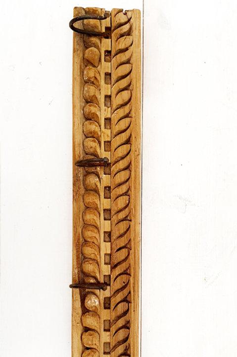 Patère Sculpté Indienne N.8 - Bois Ancien