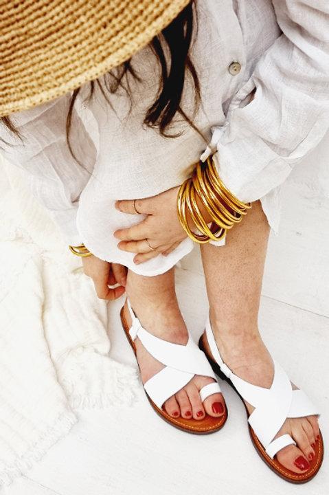 Sandale Cuir Faros