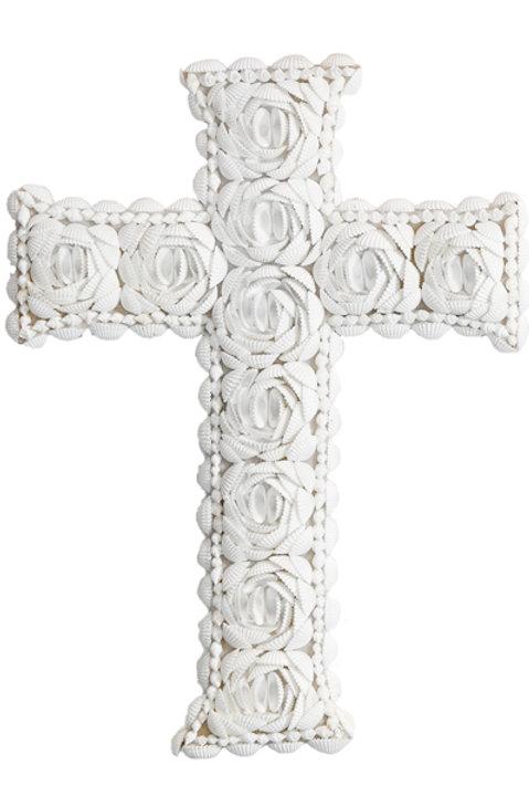 Croix Coquillage Bali - 40 cm