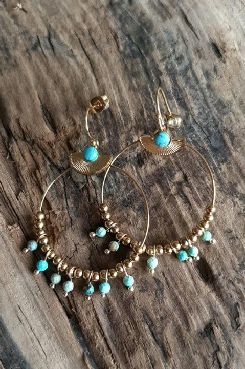BO Créole Perles Turquoise