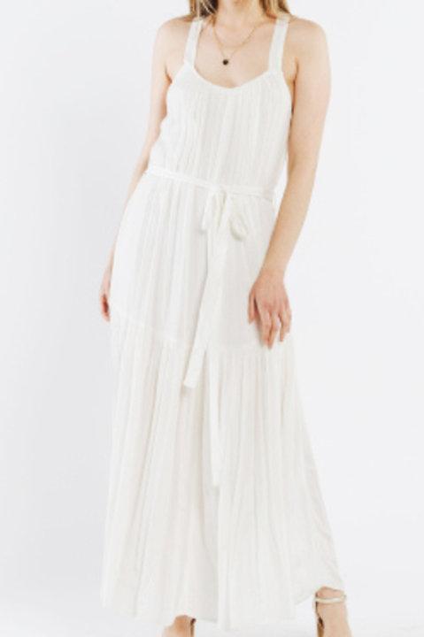 Robe Longue Dos Croisé - Blanc