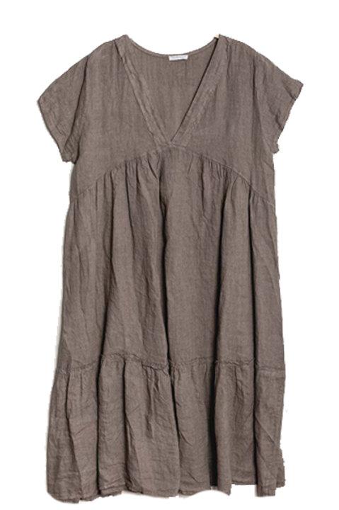 Robe Longue Lin - Taupe