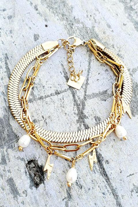Bracelet Trio - Gold - N.1