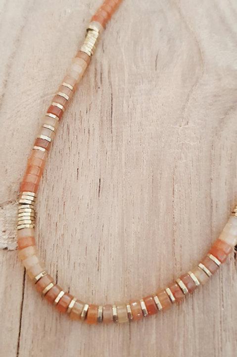 Collier Perles de Pierres Naturelles - Cornaline