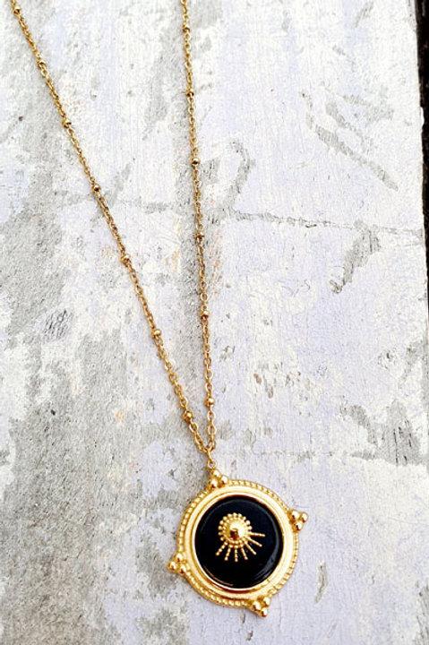 Sautoir Médaille Gold - Onyx