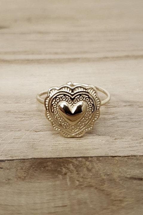 Bague Coeur Gold