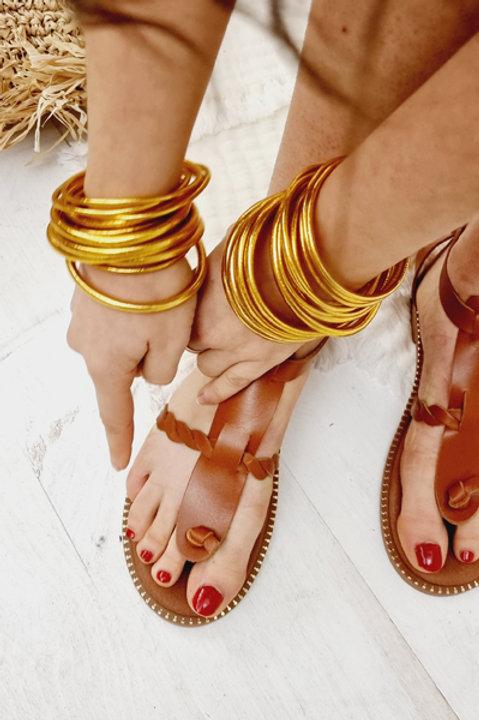 Sandale Cuir Ornos Camel