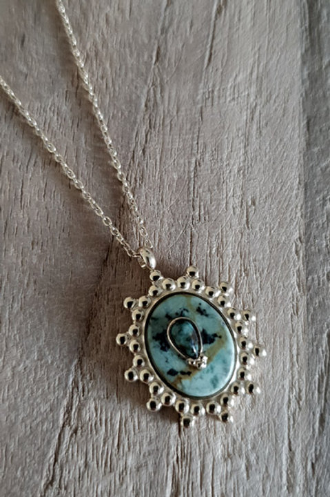 Collier Victoria Gold - Amazonite