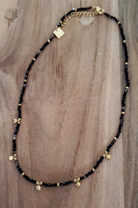 Collier Ras de Cou Summer N.5 - Perles Black Gold
