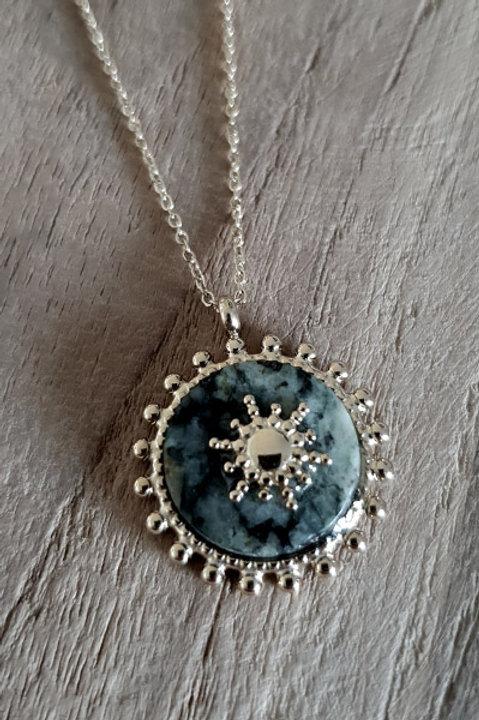 Collier Médaille Sun Gold - Amazonite