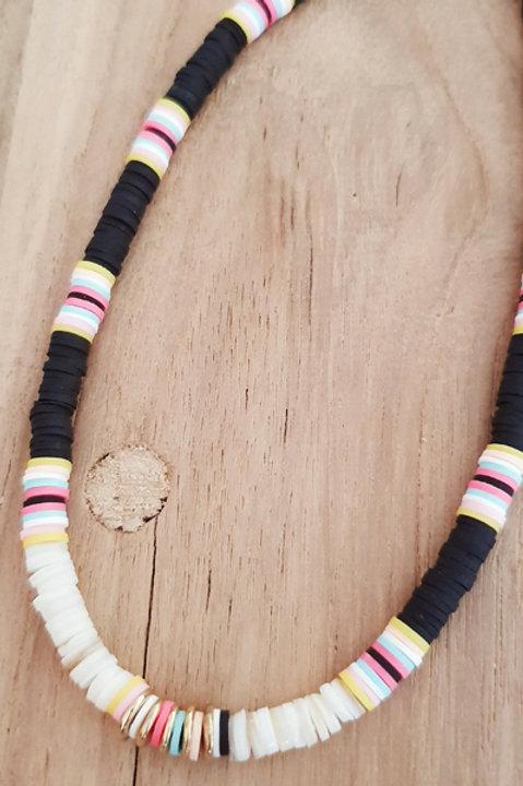 Collier - Perles Heishi Noir