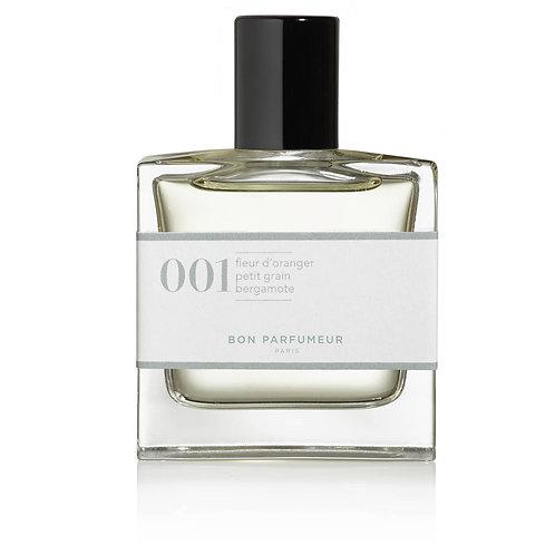 Eau de Parfum : 001 - Fleur d'oranger / Petit grain / Bergamote