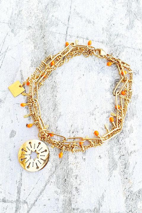 Bracelet Multi - Etoile - Orange