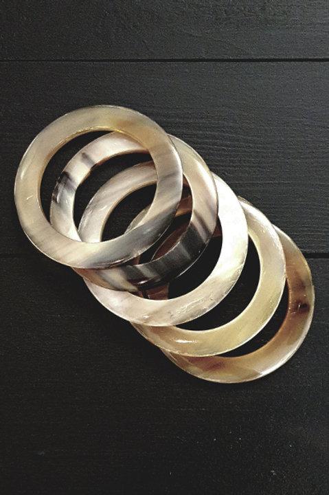 Set de 5 Bracelets en corne
