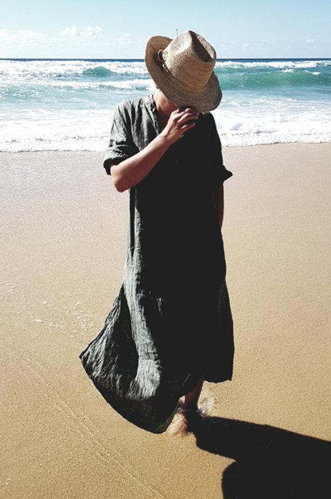 Robe Longue Sahara Lin Kaki