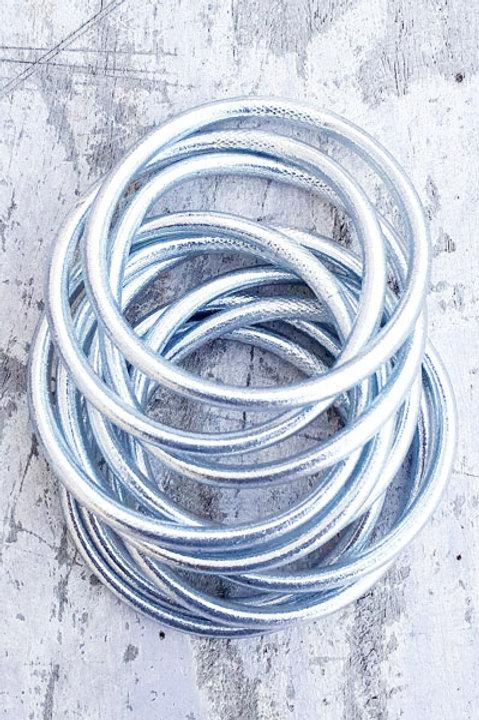 Jonc Bouddhiste - Silver - Epais