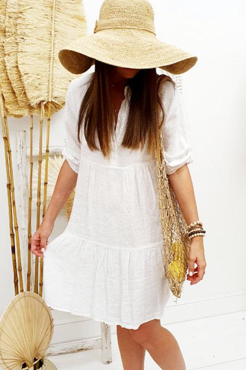 Robe Preppy Lin - Blanc