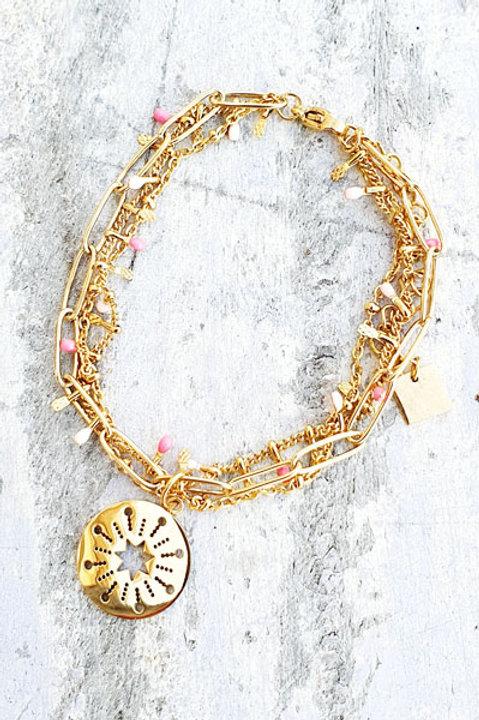 Bracelet Multi - Etoile - Pink