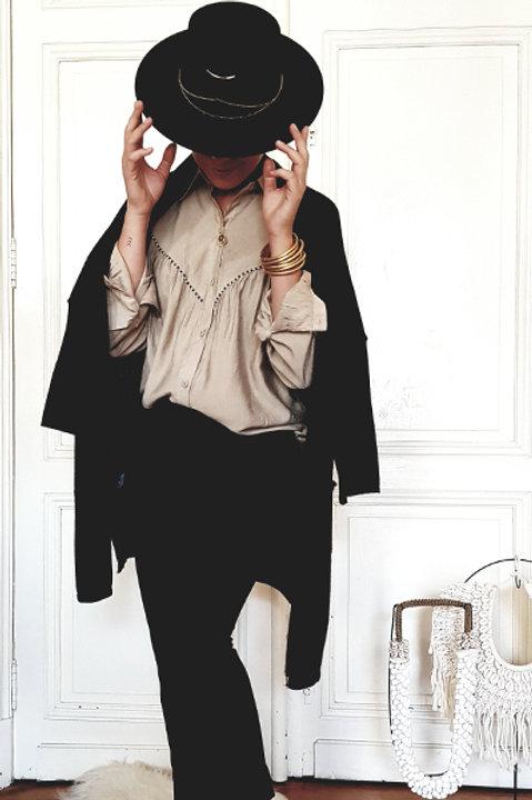 Gilet Long Oversize Laine Cachemire - Black