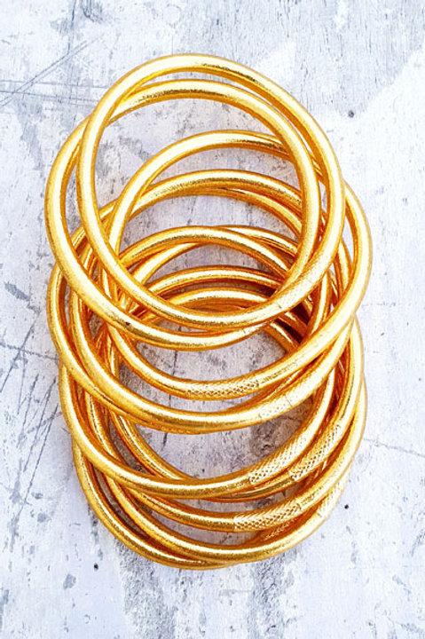 Jonc Bouddhiste - Epais - Classic Gold