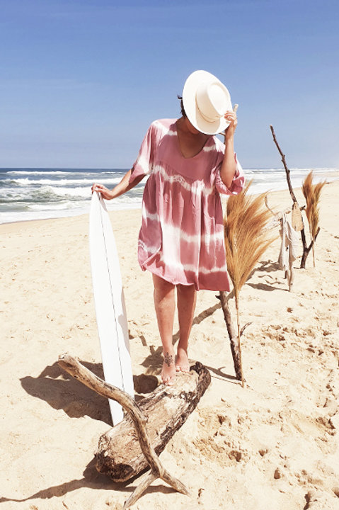 Robe Tie and Dye - Pink