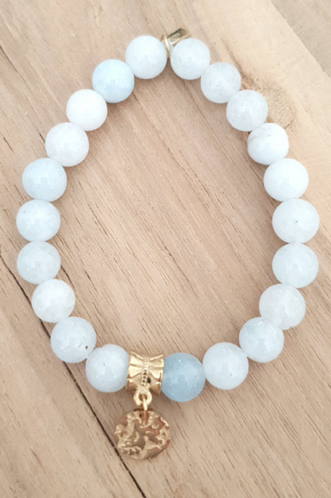 Bracelet Perles de Pierre Sun - Aigue Marine
