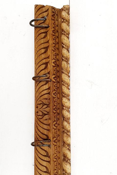 Patère Sculpté Indienne N.5 - Bois Ancien