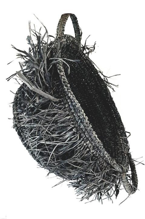 Panière Raffia Anthracite - GM
