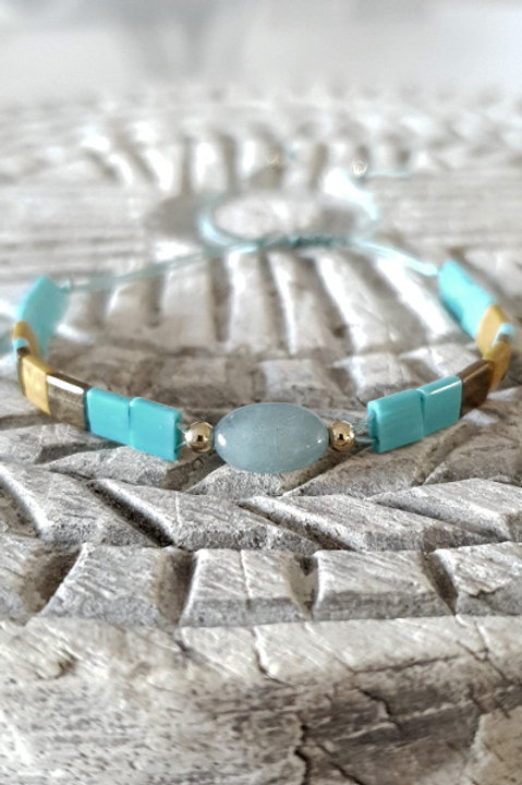 Bracelet Perles de Verre Japonaises - Perle Turquoise