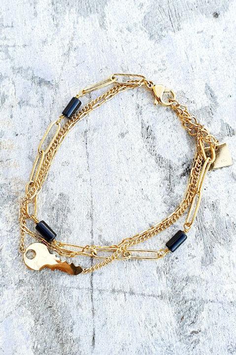 Bracelet Multi - Key - Black