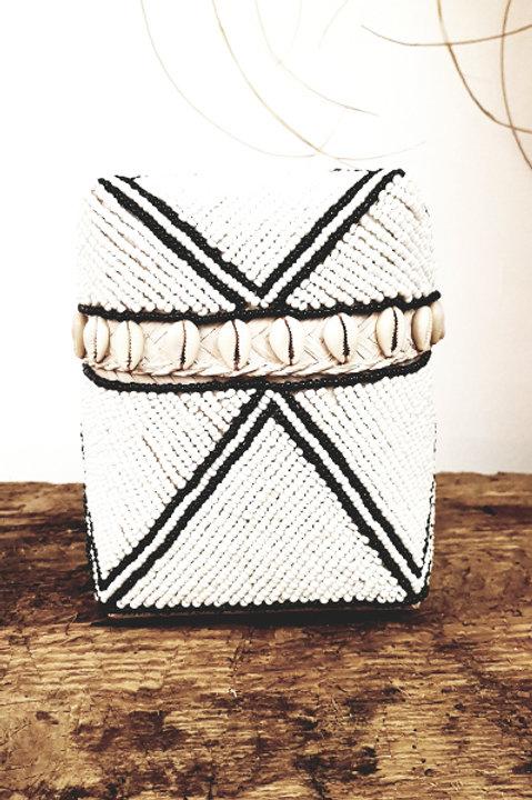 Boite Perles Cauris - Black White - Petit Modèle