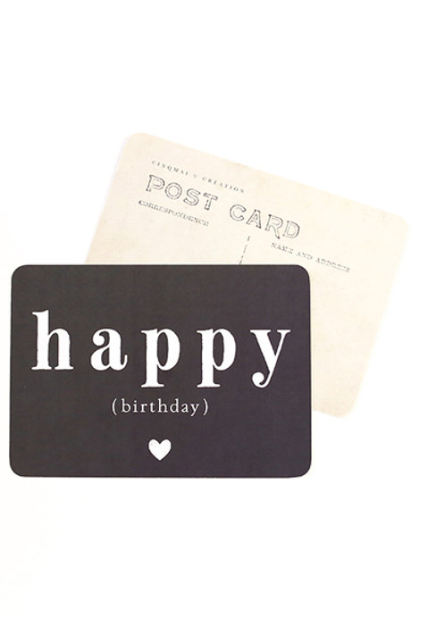 Carte Postale - HAPPY BIRTHDAY