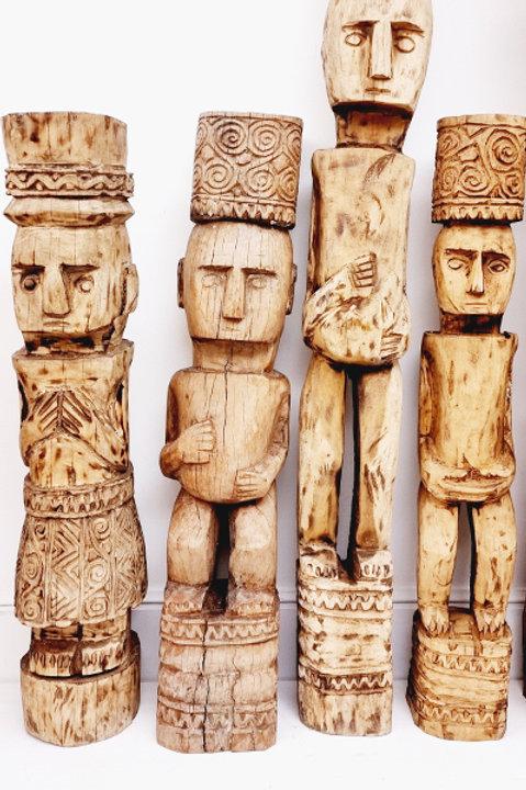 Statue Timor - Bois Sculpté Bali - 80cm