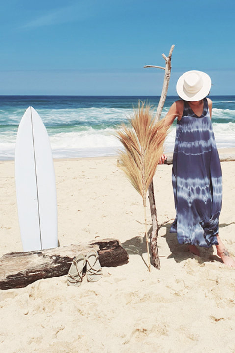 Robe Longue SS Manche Tie and Dye