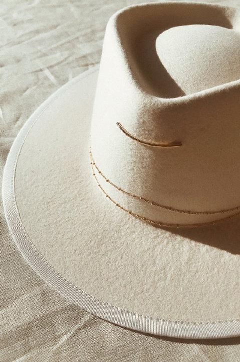 Chapeau Feutre de laine White - Fabrication Francaise
