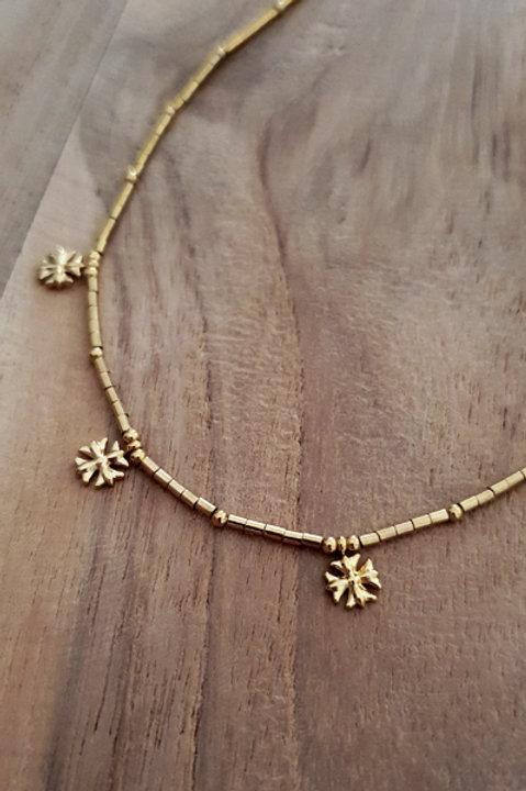 Collier Ras de Cou Summer N.4 - Perles Gold
