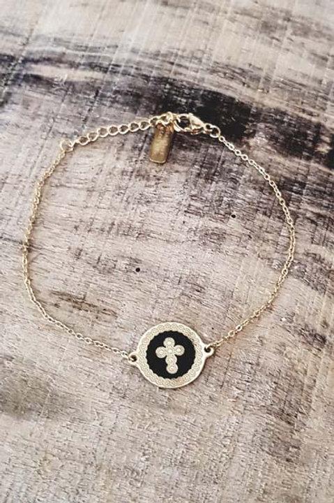 Bracelet Médaille Croix