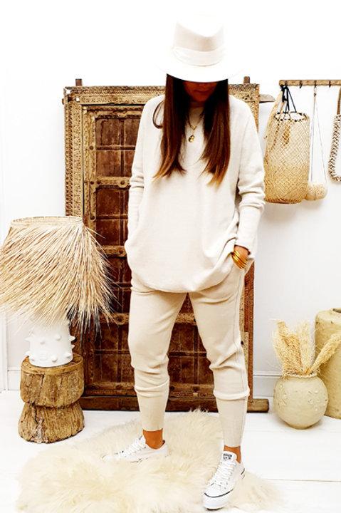 Pantalon Cosy Comfy - Ecru