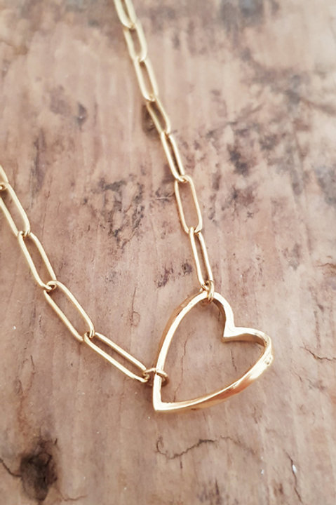 Collier Chainette Heart Gold