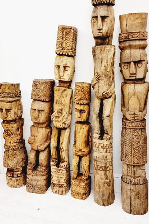 Statue Timor - Bois Sculpté Bali - 120cm
