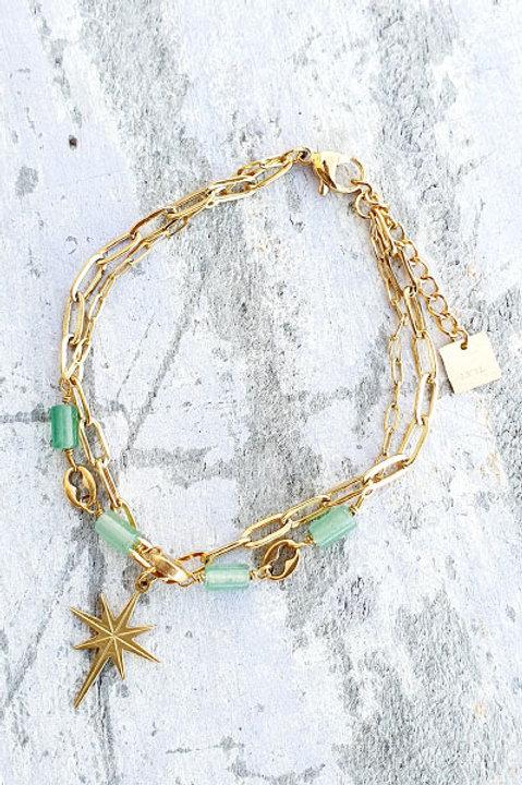 Bracelet Duo - Gold Aventurine - N.2