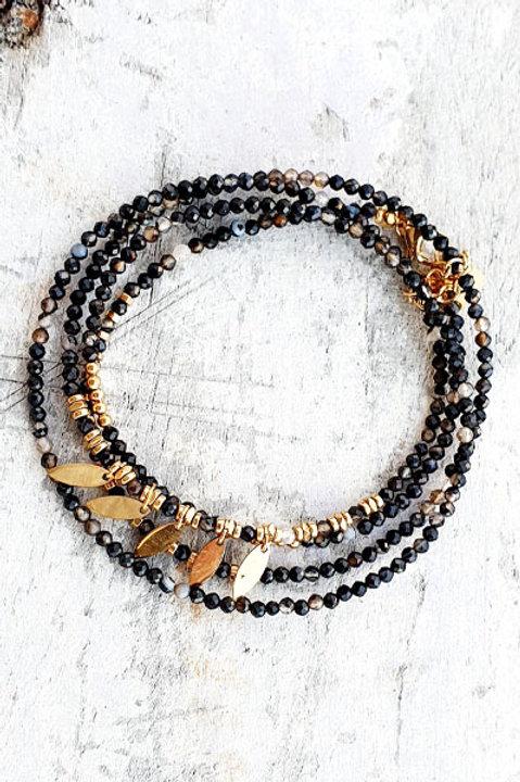 Bracelet Multi Tour - Onyx - N.3