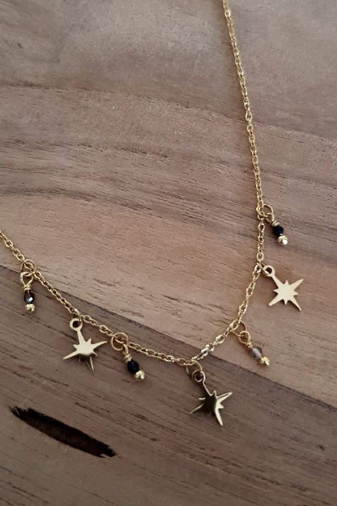 Collier Ras de Cou Summer N.3 - Black Gold