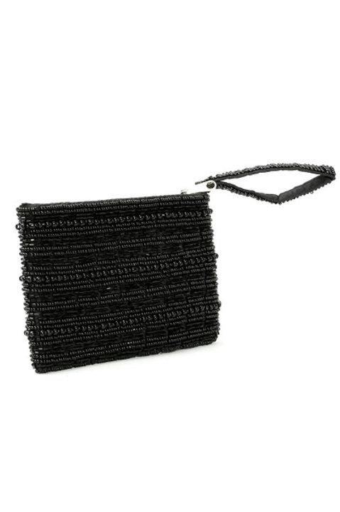 Porte Monnaie Perles - Black