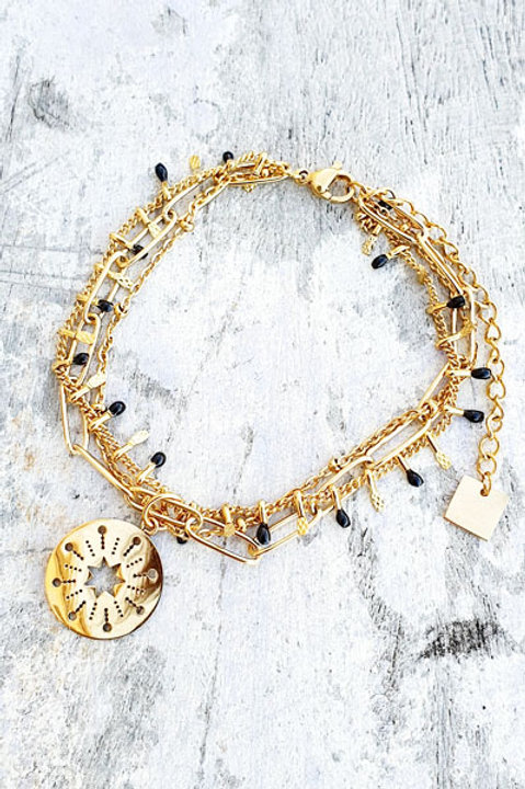 Bracelet Multi - Etoile - Black