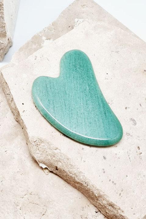 Gua Sha Heart - Jade Green